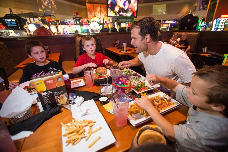 James Stubblebine ate a meal with his sons at the Braintree Dave & Buster's.